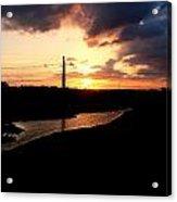 Sunset Of The Trinity River Acrylic Print
