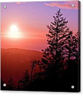 Sunset Off Mt Erie Washington Art Prints Acrylic Print