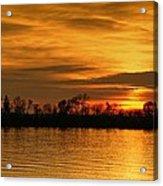 Sunset - Ohio River Acrylic Print by Sandy Keeton