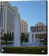Sunset On Caesar's Palace Acrylic Print by Natural Focal Point Photography