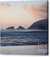 Sunset On Cannon Beach Acrylic Print