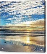 Sunset On Carmel Beach, California Acrylic Print
