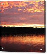 Sunset On Cayuga Lake Cornell Sailing Center Ithaca New York II Acrylic Print