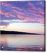 Sunset On Cayuga Lake Cornell Sailing Center Ithaca New York Acrylic Print