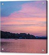 Sunset On Chickawaukee Lake Acrylic Print