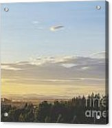 Sunset On Golf Links Acrylic Print