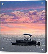 Sunset On Grand Beach Acrylic Print