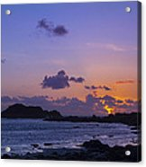 Sunset On Guernsey Acrylic Print