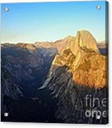 Sunset On Half Dome In Yosemite Acrylic Print