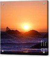 Sunset On Harris Beach Acrylic Print