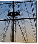 Sunset On Hms Warrior Acrylic Print