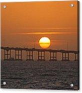 Sunset On Laguna Madre Bay Acrylic Print