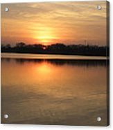 Sunset On Lake Acrylic Print by Cim Paddock