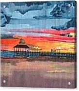 Sunset On Lake Jackson Acrylic Print