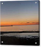 Sunset On Lake Michigan Acrylic Print