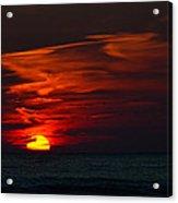 Sunset On Lake Michigan Acrylic Print