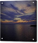 Sunset On Lake Poygan 1 Acrylic Print