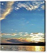 Sunset On Lake Wentworth Acrylic Print by Richard Lent