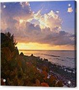 Sunset On Little Cayman Acrylic Print