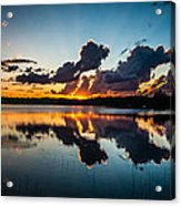 Sunset On Little Pine Lake Acrylic Print
