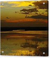Sunset On Medicine Lake Acrylic Print