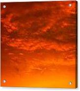 Orange Cloud Sunset Acrylic Print