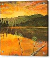 Sunset On Navajo Lake Acrylic Print