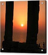 Sunset On Naxos Island Greece  Acrylic Print