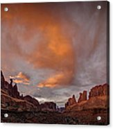 Sunset On Park Avenue Acrylic Print
