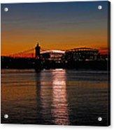 Sunset On Paul Brown Stadium Acrylic Print