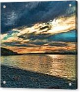 Sunset On Rocky Beach Acrylic Print