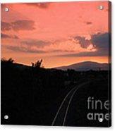 Sunset On Slievenamon  Acrylic Print