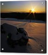 Sunset On Snow Acrylic Print
