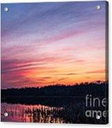 Sunset On Teeple Lake Acrylic Print