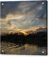 Sunset On The Amazon 1 Acrylic Print