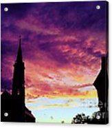 Sunset On The Basilica  Acrylic Print