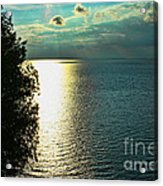 Sunset On The Bay Of Green Bay Wi Acrylic Print