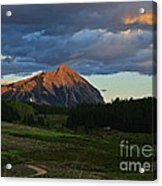 Sunset On The Butte Acrylic Print