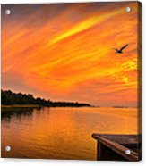 Sunset On The Cape Fear River Acrylic Print