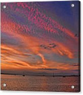Sunset On The Causeway Acrylic Print