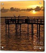 Sunset On The Dock Acrylic Print