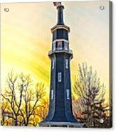 Sunset On The Dwight Windmill Acrylic Print