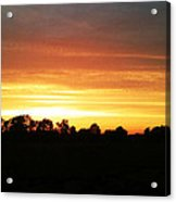 Sunset On The Edge Of Town Acrylic Print