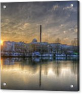 Sunset On The Esifabrik Acrylic Print by Nathan Wright