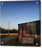 Sunset On The Farm Acrylic Print by Ed Pettitt