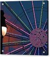 sunset on the Ferris wheel Acrylic Print
