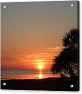 Sunset On The Florida Gulf Acrylic Print