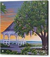 Sunset On The Gazeebo Acrylic Print