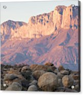 Sunset On The Guadalupe Mountains Acrylic Print