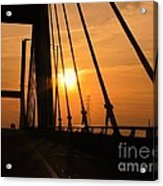 Sunset On The High Rise Acrylic Print